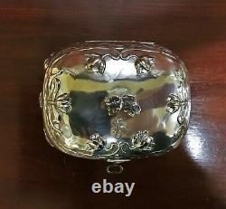 1860-80s Vienna, Austria 950 Silver Sugar Box With Key 487g