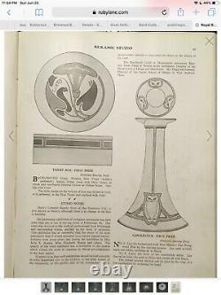 1910s Antique O&EG OR ROYAL BAVARIA Art Nouveau OWL CANDLESTICK