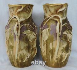 2 Vases Lily Amphora Porcelain Vase Turn Teplitz Rstk Daschel Stellmacher