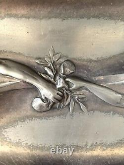 ART NOUVEAU WMF silver-plated Tray German Austrian silver plated Adam & Eve