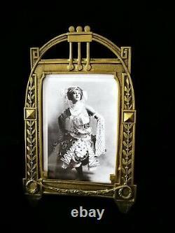 Amazing! Original Art Nouveau, Secessionist Brass Austrian Picture/photo Frame