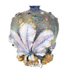Amphora Art Nouveau Gres Bijou Spider Web Chestnut Vase by Werke Reissner