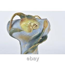 Amphora Art Nouveau Raised Floral Handled Vase
