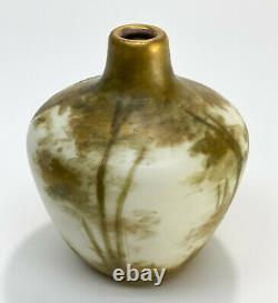 Amphora Austria RSTK Porcelain Enamel Vase, circa 1900. Lady of the Forest