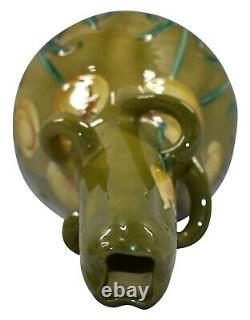 Amphora RSK Art Nouveau Austrian Pottery Yellow Tulip Twist Handle Vase