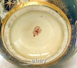 Amphora RSTK Enamel Pottery Vase Portrait of A Beauty Art Nouveau, circa 1900
