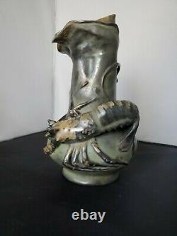 Amphora RSTK LOBSTER Art Nouveau Vase Signed Stellmacher, Kessel, Riessner