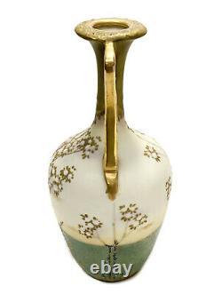 Amphora RSTK Porcelain & Jeweled Enamel Vase, circa 1900. Floral Decoration