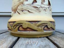 Amphora Tall Vase Polar Landscape Animals with Mark of Crown, Austria, Amphora