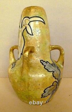 Amphora Teplitz Vase Austrian Art Nouveau Circa 1900-1910 Excellent Condition