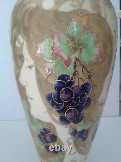 Amphora Turn Teplitz RSTK Porcelain Hand Painted Art Nouveau Vase, circa 1900