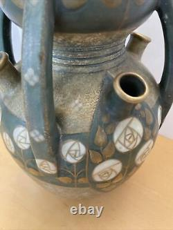 Antique Amphora Vase Paul Dachsel Signed Turn Teplitz Art Nouveau Vase