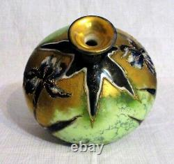 Antique Art Nouveau Amphora Austria RStK Turn-Teplitz Bohemia Pottery Bud Vase