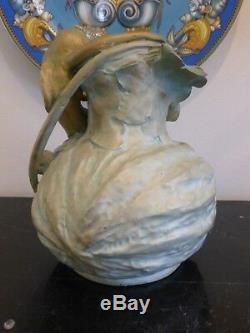 Antique Art Nouveau Amphora Nymph Vase 1897-1906