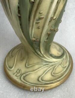 Antique Art Nouveau Amphora Turn Teplitz Paul Dachsel Large Iris Vase