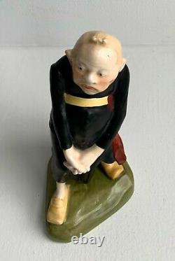 Antique Art Nouveau Amphora Turn Teplitz Rstk Austria Monk Figurine 1902