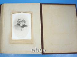 Antique Art Nouveau Austrian 29 PHOTO ALBUM c1894 Men Women Children Wedding