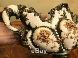 Antique Art Nouveau Austrian Majolica Vase