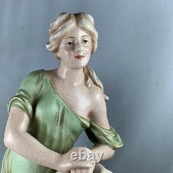 Antique Art Nouveau Bernard Bloch Figure Rebecca At The Well Austria