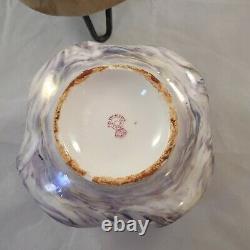 Antique Art Nouveau Carl Knoll Carlsbad Austria Hand Painted Bowl Vase c1900