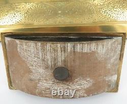 Antique Art Nouveau Geschutzt, Austrian Bronze Desk Top Inkwells / Blotter