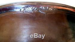 Antique Art Nouveau Jugendstil German Austrian Silver Plate Large Tray C1900