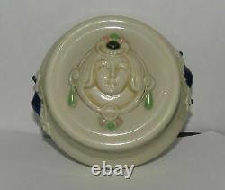 Antique Art Nouveau Schafer Vater Austrian Porcelain Jewel Jar Box Secessionist