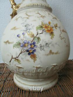 Antique Art Nouveau Vase STELLMACHER AMPHORA TURN-TEPLITZ-BOHEMIA 19 EWER 1890s