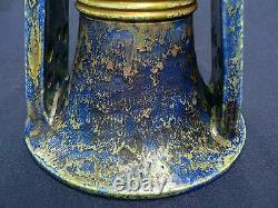 Antique Austria Julius Dressler Secessionist Vase CandleStick Amphora Faience
