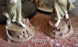 Antique Austrian Art Nouveau Porcelain Figurine Couple