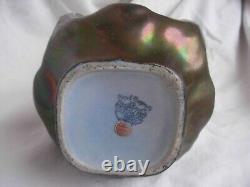 Antique Austrian Iridescent Ceramic Vase, Heliosin, Art Nouveau