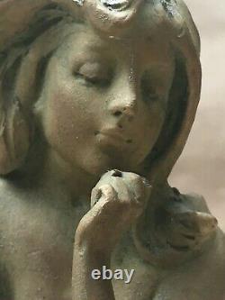 Antique Austrian Porcelain Nude on Book