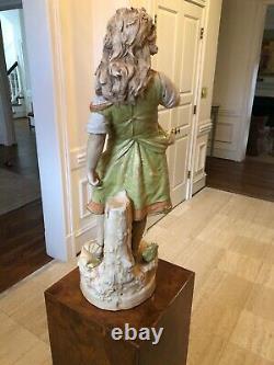 Antique Austrian Stellmacher Teplitz Figure Amphora