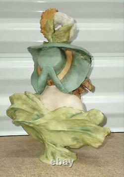Antique Austrian Turn-Teplitz Bohemia RStK Porcelain Figurine, Lady Bust, 10 h