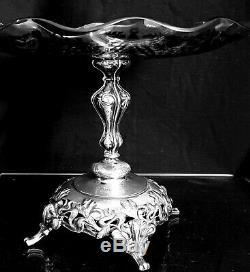 Antique Austrian art Nouveau 1890 Silver Centrepiece Jugendstil Sezessionstil