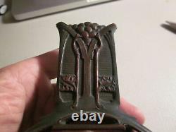 Antique Bronze Art Nouveau Match Holder, possibly Austrian