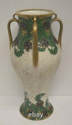 Antique Ernst Wahliss Austrian Art Nouveau Porcelain Vase Turn Teplitz