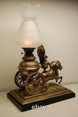 Antique French Austrian Bronze Art Nouveau Buddha Chinoiserie Kerosene Oil Lamp