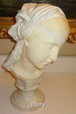 Antique Friedrich Goldscheider Wein Reproduction Reservee Bust Art Nouveau Woman