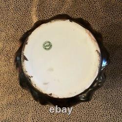 Antique Leonard Austria Vienna Hand Painted Porcelain Biscuit Jar with Lid