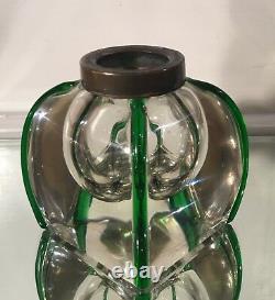 Antique Moser Austrian Art Glass Inkwell
