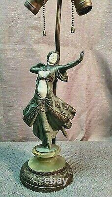 Antique Peter Tereszczuk Austrian Patinated Bronze Figure Dancing Maiden
