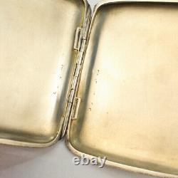 Antique Signed GAS Austrian 900 Silver & Enamel Cigarette Case Scheid Lady SL