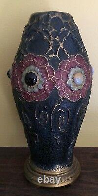 Antique Teplitz Austria Dachsel Porcelain Vase Amphora