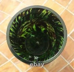 Antique VTG Studio Art Glass Iridescent Vase Austrian Bohemian Textured Kralik