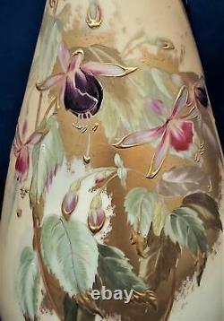 Antique Vase Austria Art Nouveau Porcelain Robert Hanke Hand Paintings Signed