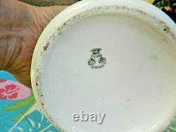 Antique Vienna Austria Hand Painted Handled Pitcher Vase 10 Blackberries Leaves