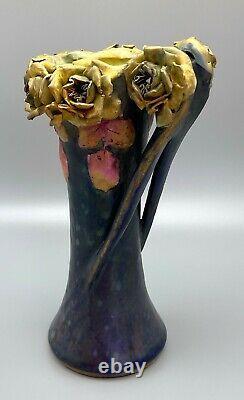 Art Nouveau 10 Yellow Roses Amphora Austria