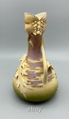 Art Nouveau Amphora Austrian Leaf Vase