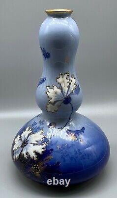 Art Nouveau Amphora Ernst Wahliss Turn Royal Vienna Bulbous Gourd Vase 12